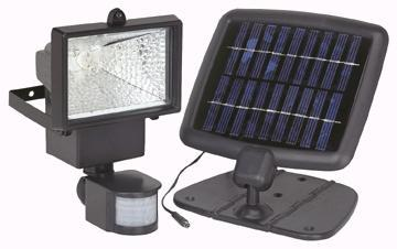 AZM Solar Powered Security Light - die-cast construction