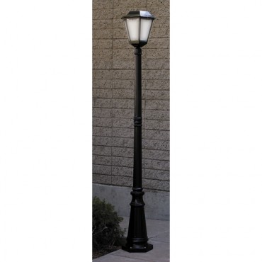 Black 6 ft. Solar Lamppost - Height: 76""