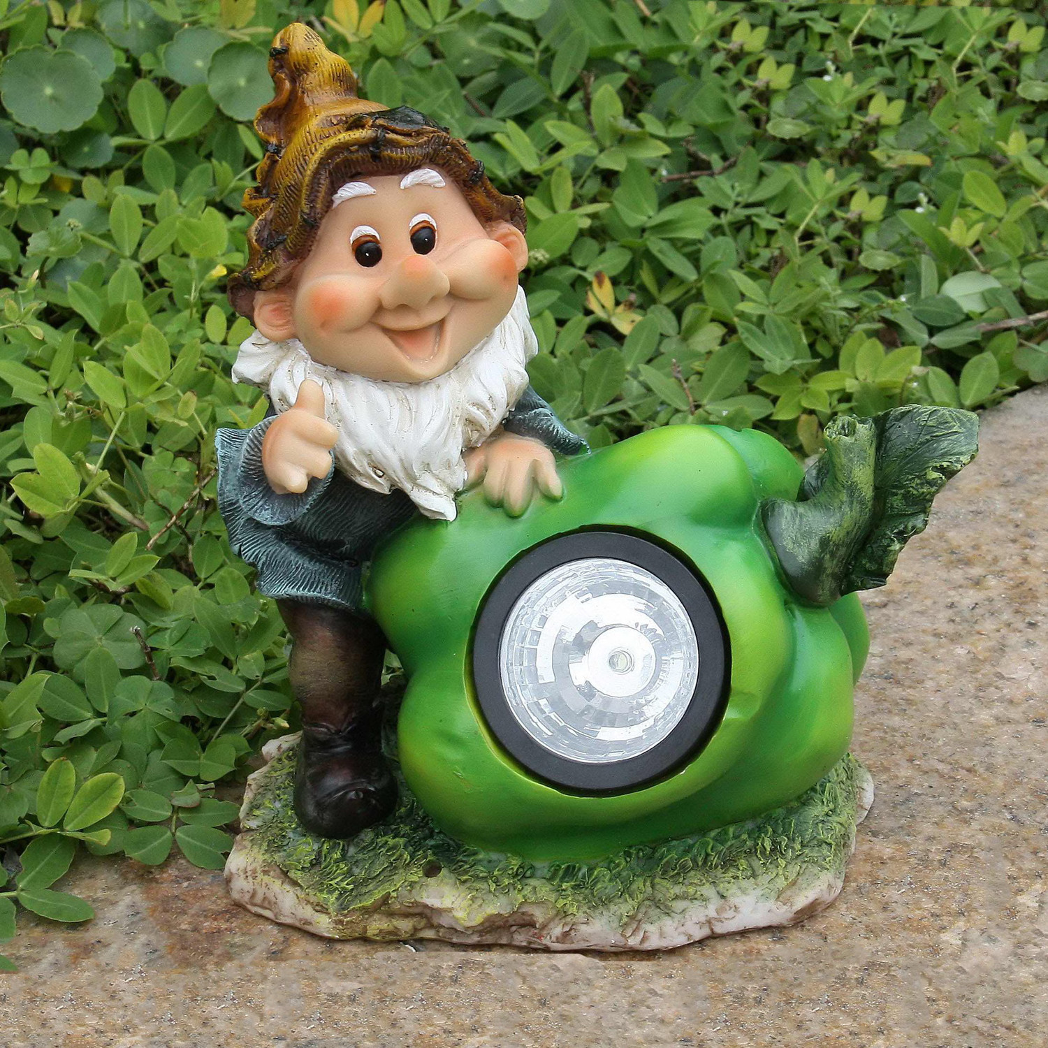 Cute Gnome with Pepper Solar Light