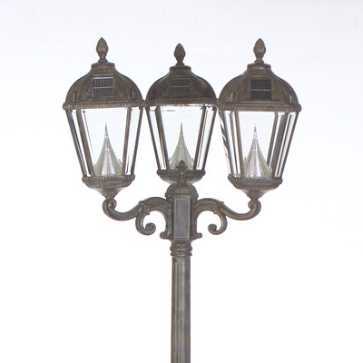 Royal Solar Lamp Post and Three Seven-LED Lanterns