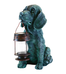 Generic Dog With Lantern Solar Light (No Color)