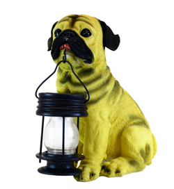 Pug Dog With Lantern Solar Light - CE certified