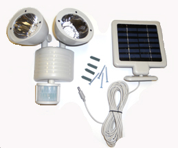 22 LED Motion Sensor Security Flood Solar Light Gray