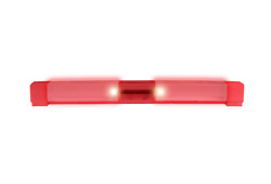Plastic 2 Red LED Pathway Solar Light - Corrosion resistant