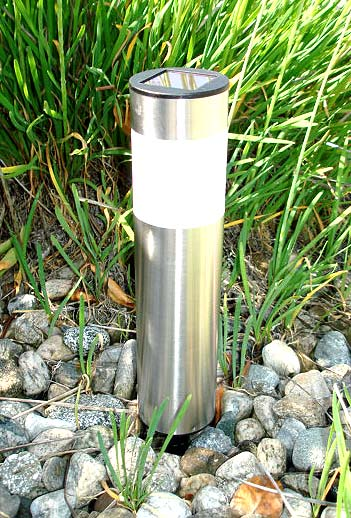 Stainless Steel Tube Solar Light (Long) (Set of 4)