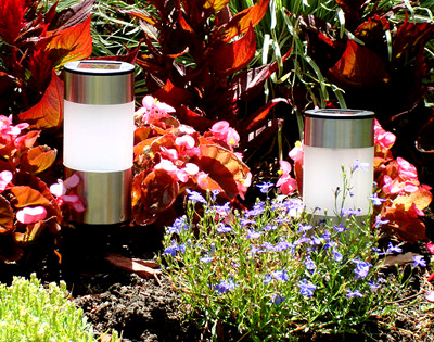 Stainless Steel Tube Solar Light (Short) (Set of 4)