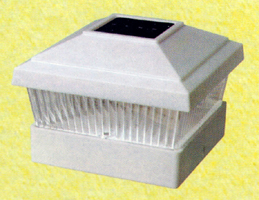 "CE certified Plastic White Square Post Fence Mount 5""x 5"""
