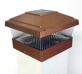 Plastic Copper Color Solar Square Post Fence Mount 5x5