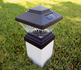 Matte Black Color Square Solar Light PVC Fence Post Cap