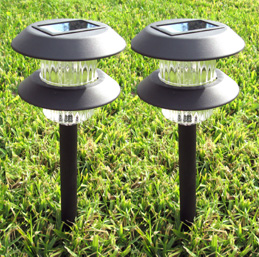 Plastic Dual Cylinder Solar Light (Set of 2) - Water resistant