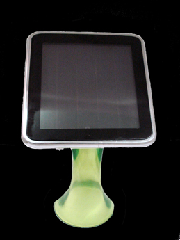 Isolar Cell Phone Solar Charger With 3 LEDs Light (Green Base)
