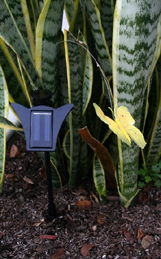 "Solar Powered Flickering Yellow Butterfly - 15"" Height"