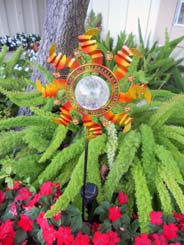 "Metal Sunflower Garden Solar Color Change Stake - 32""H"